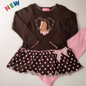 ⭐️NWT⭐️ Girls Dress Leggings Outfit Size 6